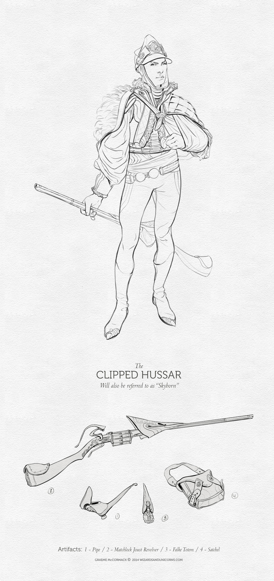 The Clipped Hussar  - Line work