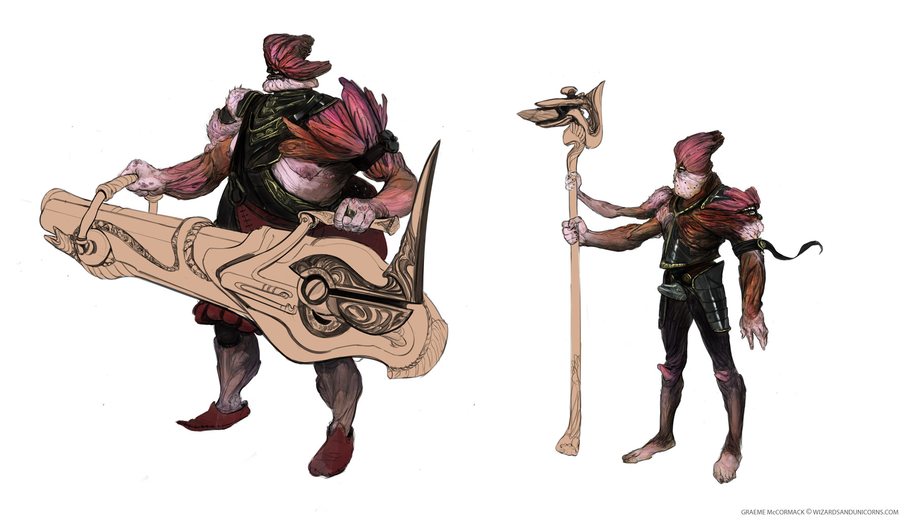 The Clipped Hussar - colour comps